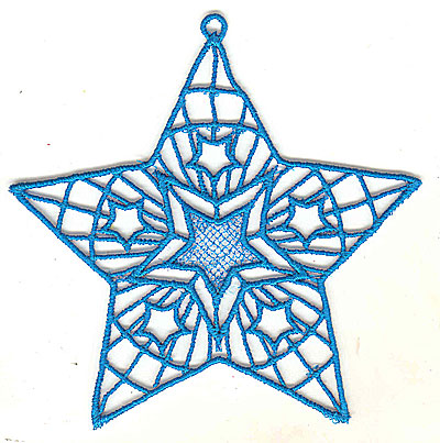 Embroidery Design: Lace Star Ornament 4 large 4.99w X 4.95h
