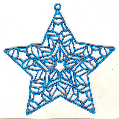 Embroidery Design: Lace Star Ornament 5 large 4.99w X 4.95h