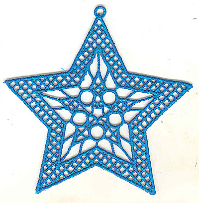 Embroidery Design: Lace Star Ornament 6 large4.99w X 4.95h