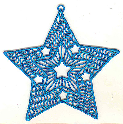 Embroidery Design: Lace Star Ornament 7 large 4.99w X 4.95h