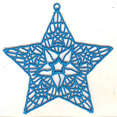 Embroidery Design: Lace Star Ornament 8 large 4.99w X 4.95h