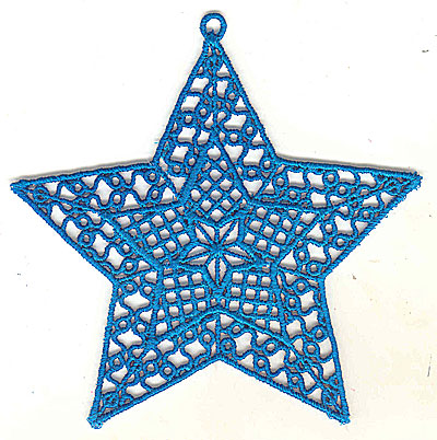 Embroidery Design: Lace Star Ornament 10 large 4.99w X 4.95h