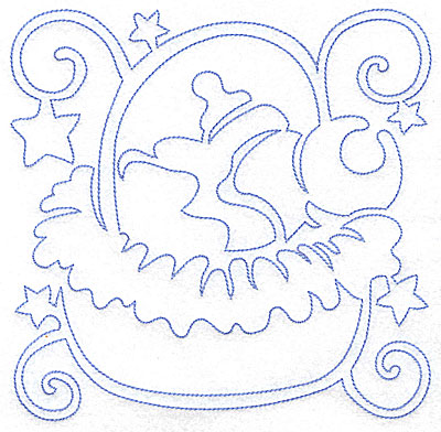 Embroidery Design: Baby Gift Basket large 7.08w X 7.01h