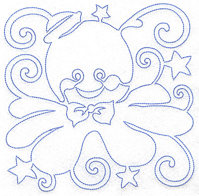 Embroidery Design: Octopus design large 7.04w X 6.98h