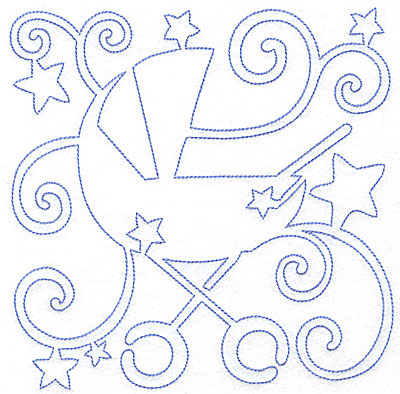Embroidery Design: Baby Carriage large 7.02w X 7.05h