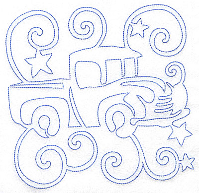 Embroidery Design: Toy Truck large 7.03w x 7.01h