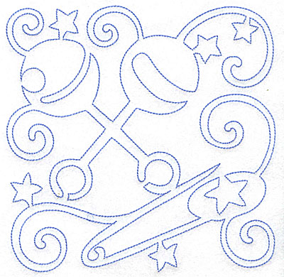 Embroidery Design: Rattles and Diaper Pin large 7.02w X 7.03h