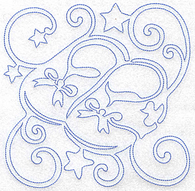 Embroidery Design: Baby Booties large 7.09w X 7.03h