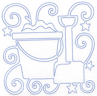 Embroidery Design: Pail and Shovel large 7.05w X 7.03h