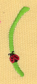 Embroidery Design: Ladybug Letters ( 0.57w X 1.96h