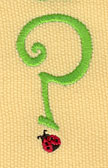 Embroidery Design: Ladybug Letters ? 1.06w X 1.94h