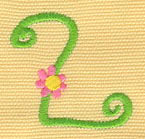 Embroidery Design: Ladybug Letters 21.69w X 1.63h