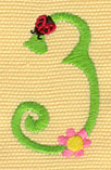 Embroidery Design: Ladybug Letters 31.13w X 1.91h