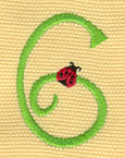 Embroidery Design: Ladybug Letters 61.18w X 1.76h