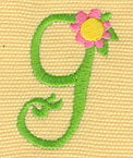 Embroidery Design: Ladybug Letters g1.29w X 1.85h