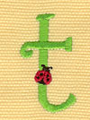 Embroidery Design: Ladybug Letters t 0.88w X 1.56h