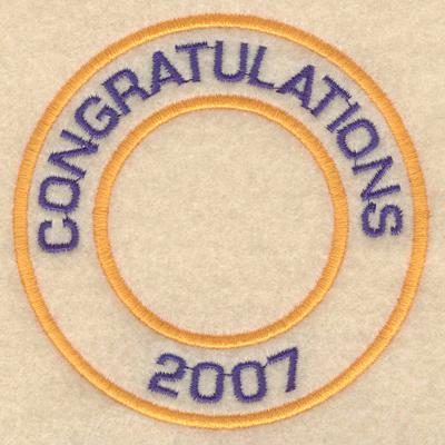 """Embroidery Design: Congratulations 20073.80""""w X 3.80""""h"""