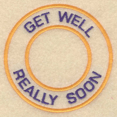 """Embroidery Design: Get well really soon3.80""""w X 3.80""""h"""