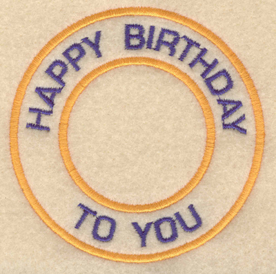 """Embroidery Design: Happy birthday to you3.80""""w X 3.80""""h"""