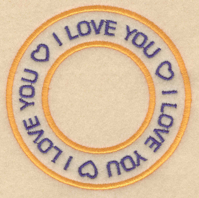"Embroidery Design: I love you I love you I love you3.80""w X 3.80""h"