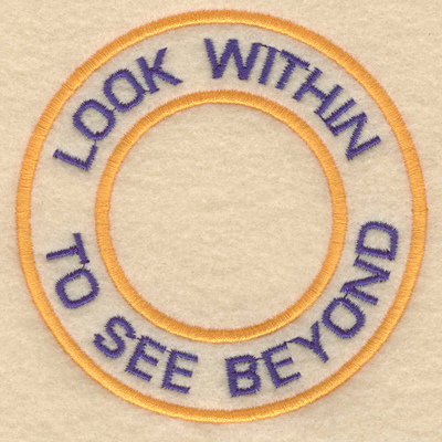"""Embroidery Design: Look within to see beyond3.80""""w X 3.80""""h"""