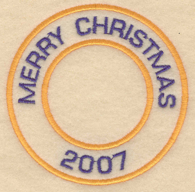 """Embroidery Design: Merry Christmas 20073.80""""w X 3.80""""h"""