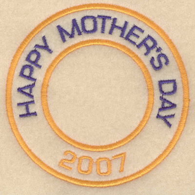 """Embroidery Design: Happy mother's day 20073.80""""w X 3.80""""h"""