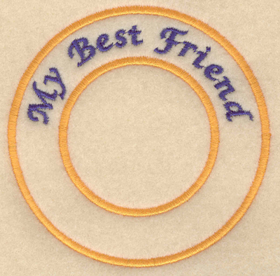"Embroidery Design: My best friend3.80""w X 3.80""h"