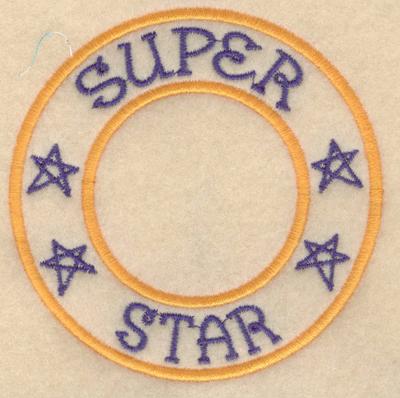 "Embroidery Design: Super star3.80""w X 3.80""h"