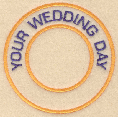 """Embroidery Design: Your wedding day3.80""""w X 3.80""""h"""