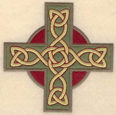Embroidery Design: Medium Greek cross applique4.94w X 4.92h