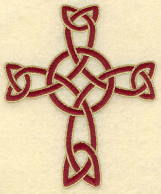 Embroidery Design: Small Celtic cross woven3.40w X 4.12h
