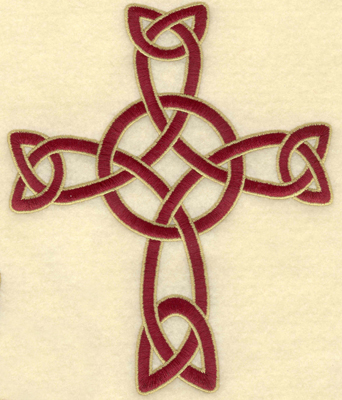Embroidery Design: Large Celtic cross woven5.50w X 6.67h