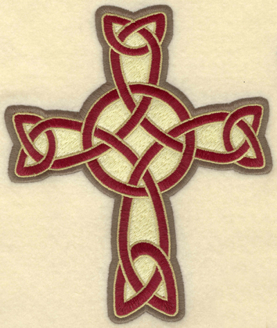 Embroidery Design: Large Celtic cross fileed5.81w X 6.97h