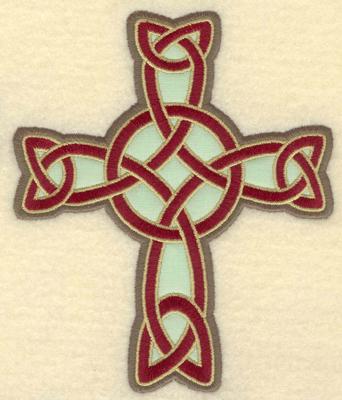 Embroidery Design: Medium Celtic cross applique4.41w X 5.30h
