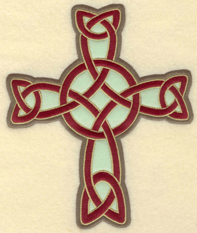 Embroidery Design: Large Celtic cross applique5.81w X 6.97h