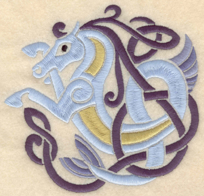 Embroidery Design: Large Hippocampus horse 5.19w X 4.93h