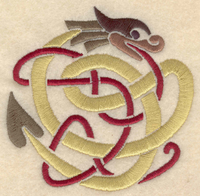 Embroidery Design: Small Serpent snake snakes 3.69w X 3.63h