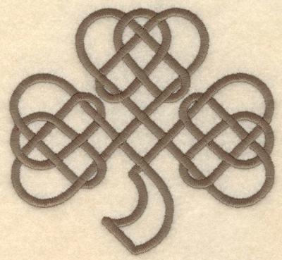 Embroidery Design: Medium shamrock4.47w X 4.17
