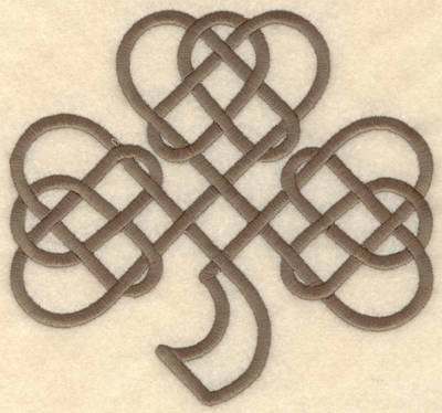 Embroidery Design: Large shamrock 5.88w X 5.49h