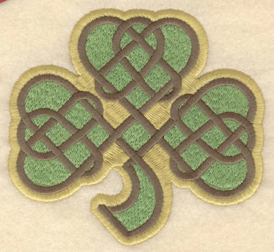 Embroidery Design: Large shamrock filled 4.79w X 4.50h