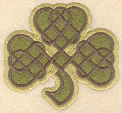 Embroidery Design: Small shamrock applique3.90w X 3.66h