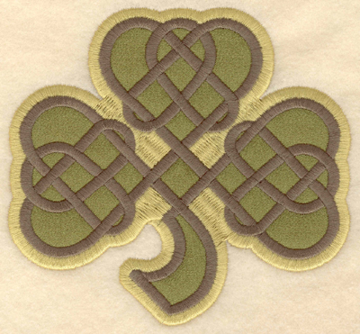 Embroidery Design: Large shamrock applique4.79w X 4.50h