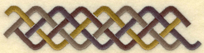 Embroidery Design: Large band plait B5.79w X 1.35h