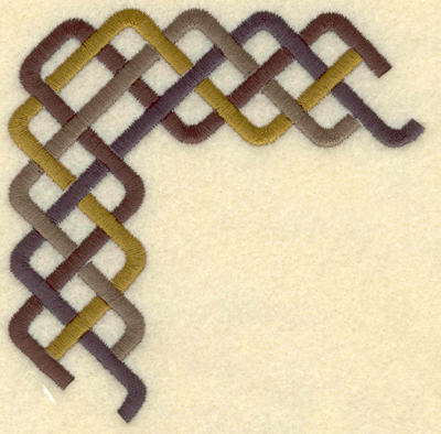 Embroidery Design: Large corner band plait4.04w X 4.04h
