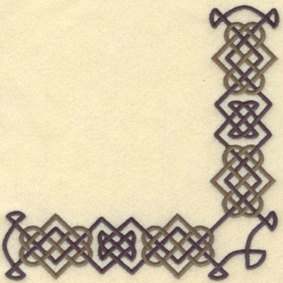 Embroidery Design: Celtic knot corner6.55w X 6.53h