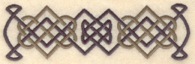 Embroidery Design: Celtic knot border5.43w X 1.68h