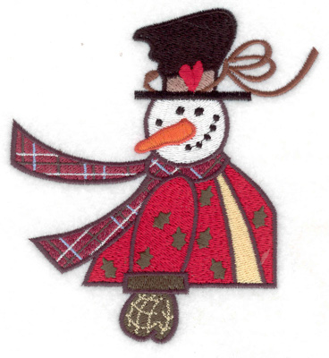 Embroidery Design: Snowman large 4.50w X 4.94h