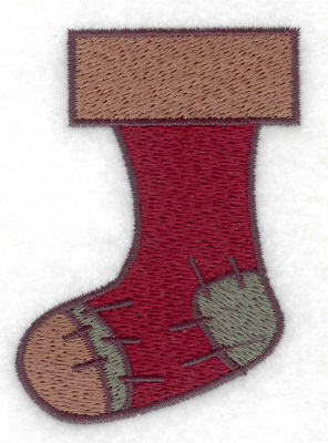 Embroidery Design: Christmas stocking 2.20w X 3.02h