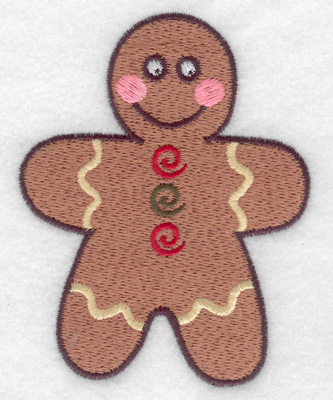 Embroidery Design: Gingerbread man large 3.07w X 3.89h